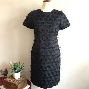 Banana Republic Fringe-Dot Shift Dress. NWOT